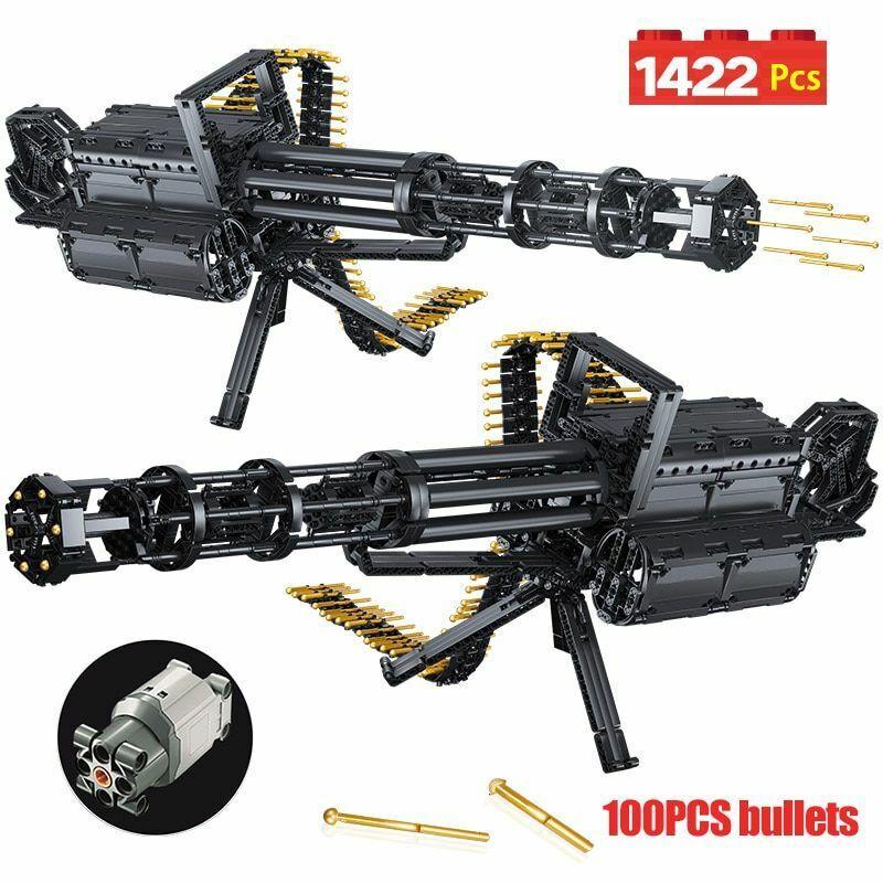 1422 un. Bloques de Construcción Technic City armas GATLING modelo de emisión ladrillos Lego Juguete