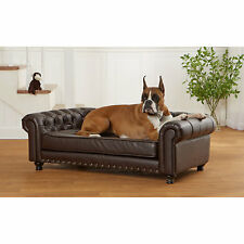 Enchanted Home Pet Wentworth Tufted Brown Sofa Dog Bed Co2715 16p Brn