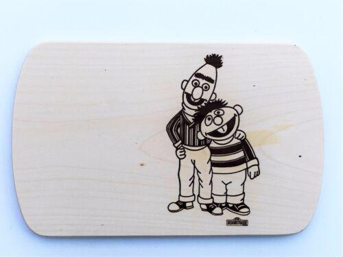 Frühstücksbrettchen Frühstücksbrett Gravur Ernie /& Bert Vesper Holz Namen Brett