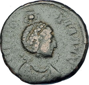 EUDOXIA-Arcadius-Wife-401AD-Authentic-Ancient-Roman-Coin-VICTORY-CHI-RHO-i65894
