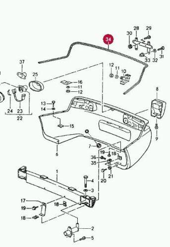 New Genuine Porsche 968 Rear Bumper Seal Piping Gasket 94450528301