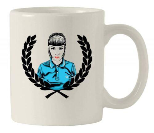 Mod Coffee Cup  Skin Head Scooter  Gift SKINHEAD GIRL LAUREL LEAF MUG