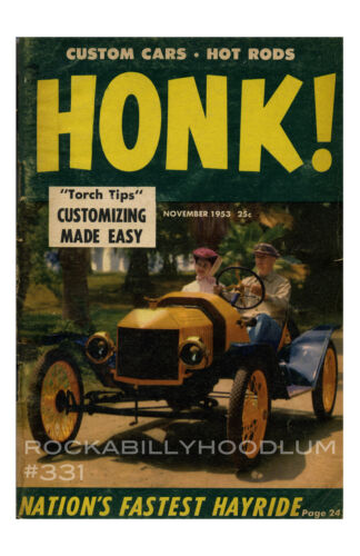 new hot rod Poster 11x17 Honk Magazine November 1953 cover art