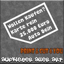 Aufkleber,Auto,Autoaufkleber,Karten,Nix Verkaufen,Tuning,Tattoo,2er Set Fa.Weiß