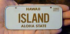 Vintage 1982 HAWAII Cereal Prize Mini Bike License Plate ISLAND ALOHA gift