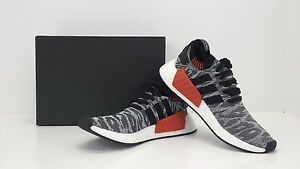 49c630f27 Adidas NMD R2 PK Core Black White Red BY9409 Sizes 8.5 - 13 - BRAND ...