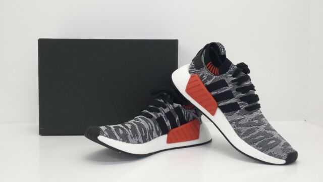 the best attitude on wholesale the latest Adidas NMD_R2 PK Primeknit Runner Core Black/White/Red BY9409 - BRAND NEW  IN BOX