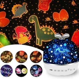 USB LED Sternenhimmel Projektor Lampe Nachtlicht Kinder Dekor Party Nachtlampe