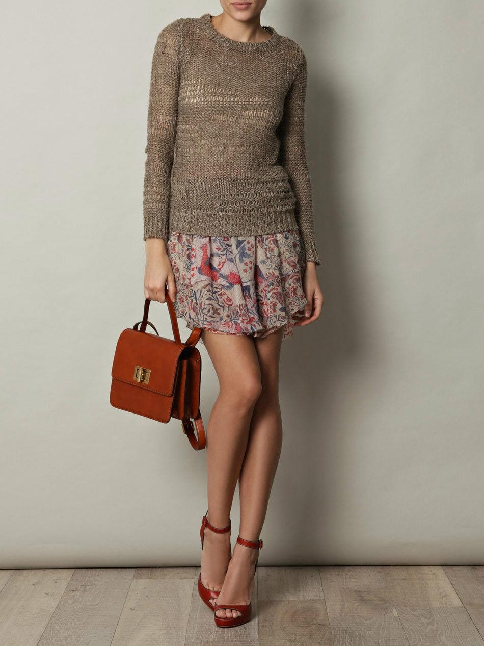 705 NWOT ISABEL MARANT  Vutti  Silk Skirt Sz 38 Floral Bird Print MAINLINE