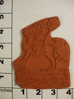 Little Boy On Rocking Horse Unmounted Rubber Stamp 2j 1