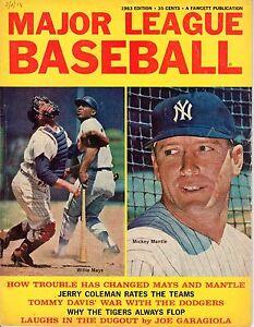 1963-Major-League-Baseball-magazine-Mickey-Mantle-New-York-Yankees-Willie-Mays-F