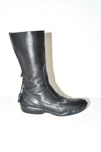 Real Size Mid Pixie Women's Leather 36 Messi Black Boots Heel Calf 3 Low RdOTqTn