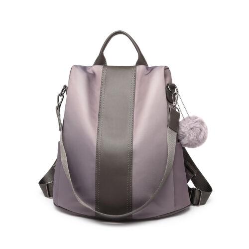 Anti-theft Backpack Ladies Women Leather Pompom Small Handbag Shoulder Bag