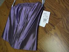 David's Bridal Mystic Purple Top(Size 6)A-Line Skirt(Size 8)Iridescent Taffeta