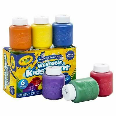 Washable Paint For Kids Toddler Baby Finger Craft Poster Non-Toxic Paint Crayola