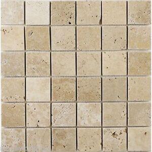 Image Is Loading Tumbled Clic Light Travertine Mosaic Tiles 48 X