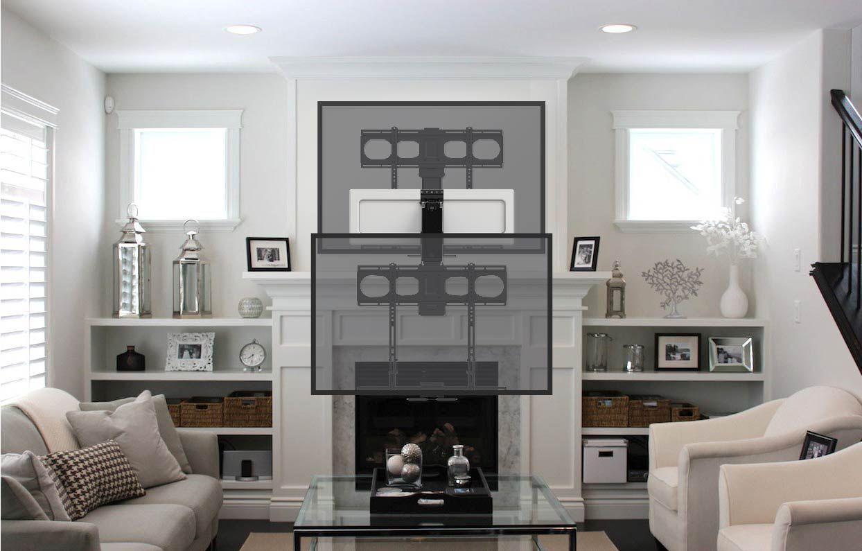 "Refurbished MantelMount MM540 Pull Down Fireplace TV Mount For 44/""-80/"" TVs"