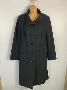 WOMENS-BHS-CHARCOAL-GREY-LONG-LENGTH-SMART-CASUAL-WINTER-OVERCOAT-JACKET-SIZE-14