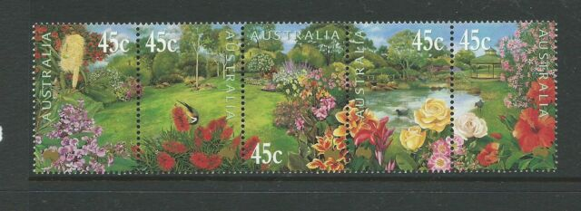 2000 Gardens of Australia set 5 in a joined Strip  Complete MUH
