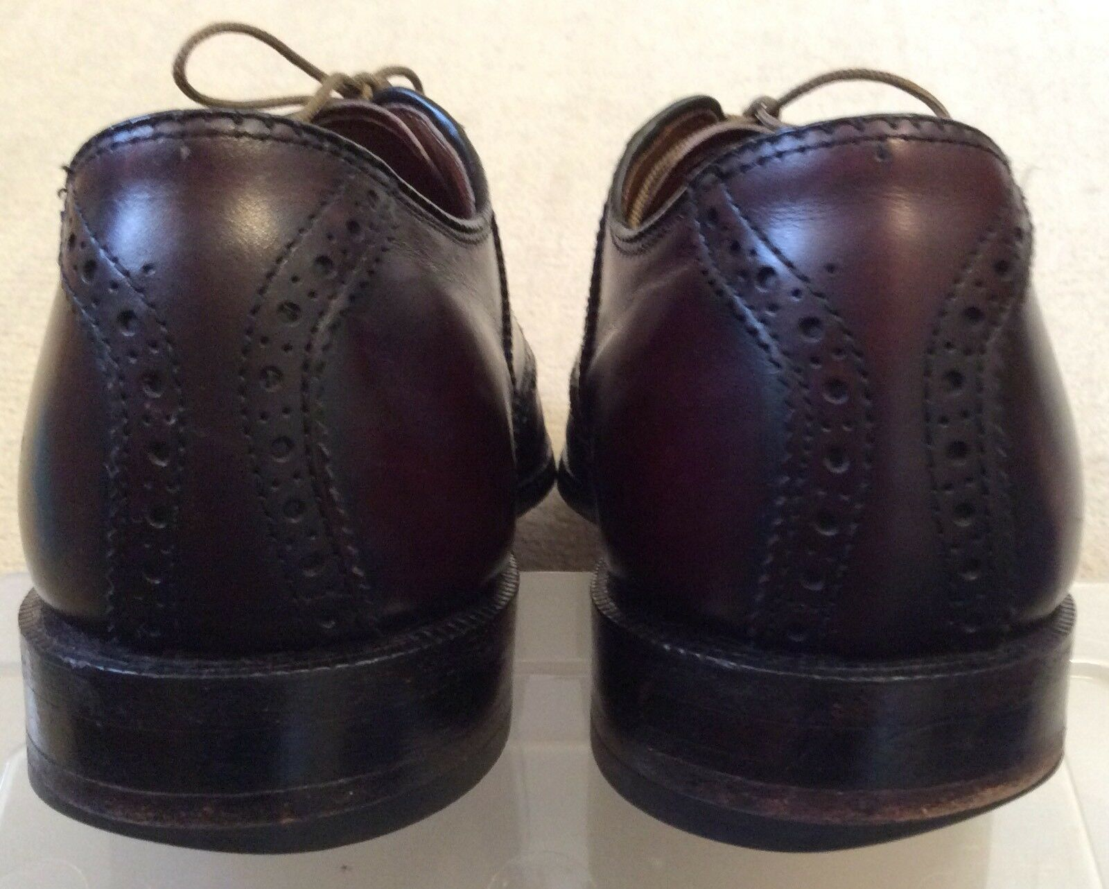 KEITH HIGHLANDERS HIGHLANDERS HIGHLANDERS Grenadiers Pelle Wingtip Oxford Shoes Size 9.5 N Made In  A 659d7a
