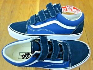 4a7c0e5091 Vans Mens Old Skool V Dress Blues True Navy Canvas Suede Skate shoes ...