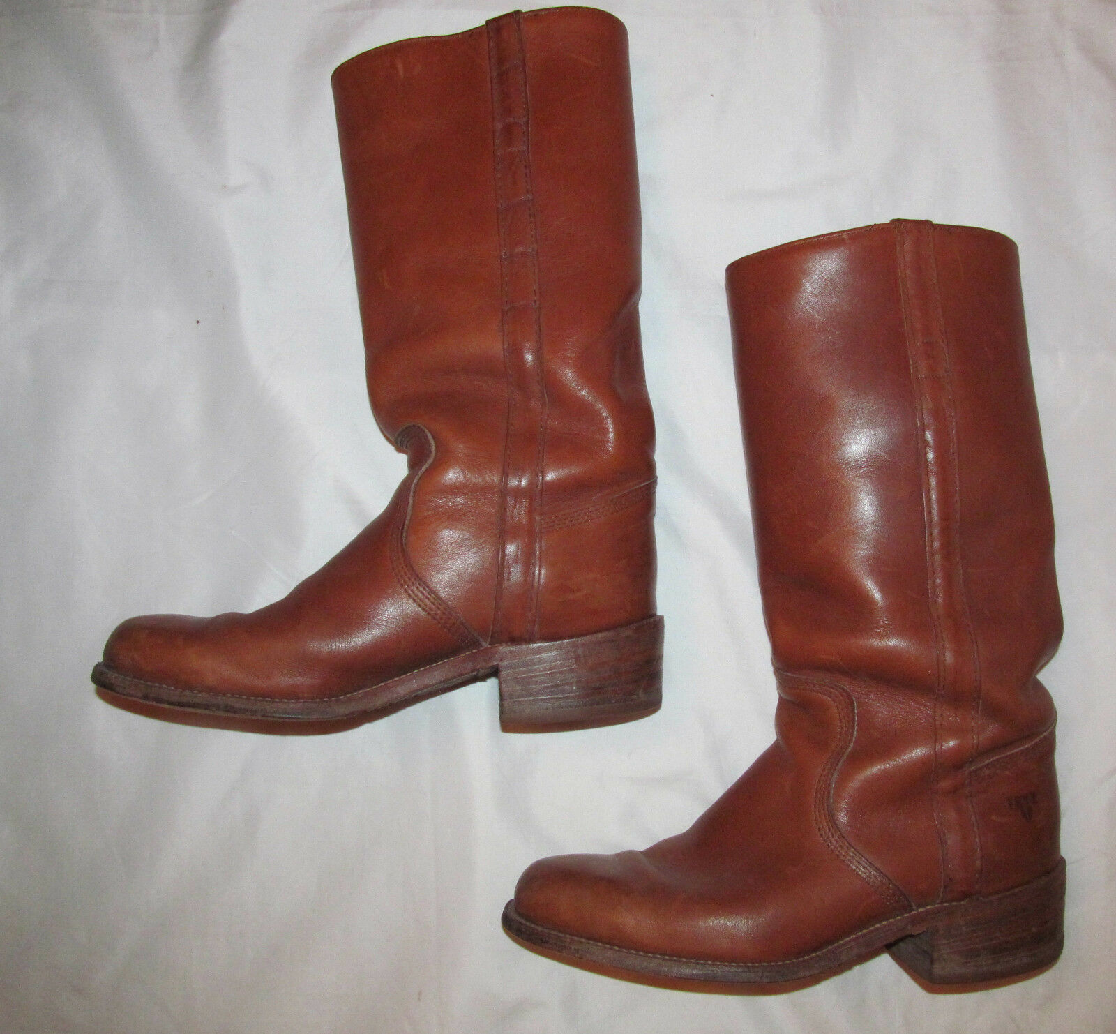 Vintage FRYE pull on CAMPUS engineer 14  braun leather Stiefel 8.5 D