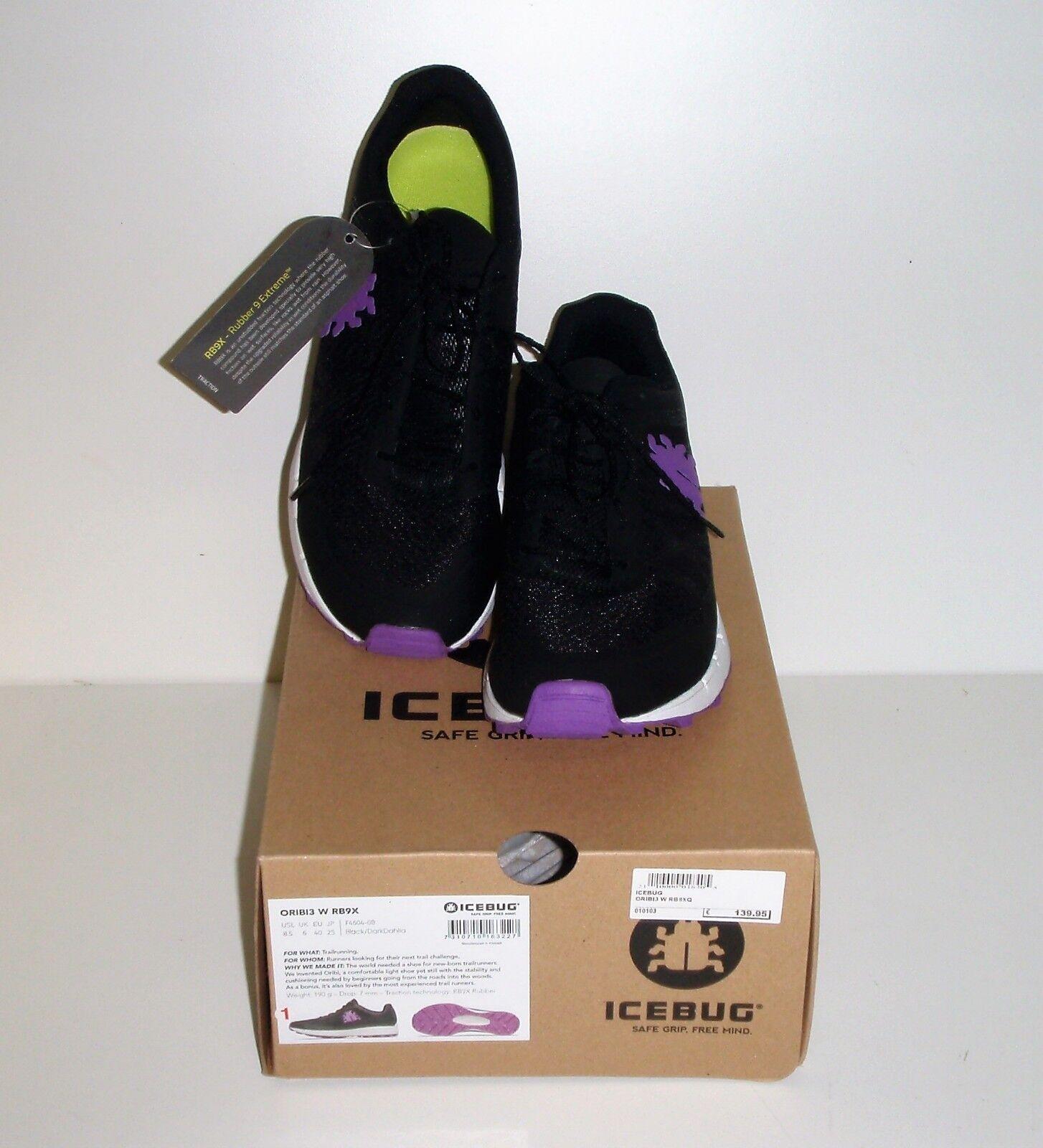 Icebug ORIBI3 W RB9X Black/DarkDahlia Sneaker Spotschuh Turnschuh Größe 40