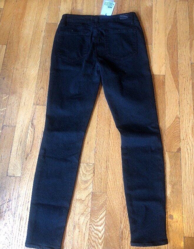 Paige Verdugo Ultra Skinny Schwarz Überfärbte Jeans Hergestellt in USA Sz 30