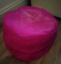 Moroccan Genuine Leather Pouffe Footstool New  Pouf Handmade Fuschia