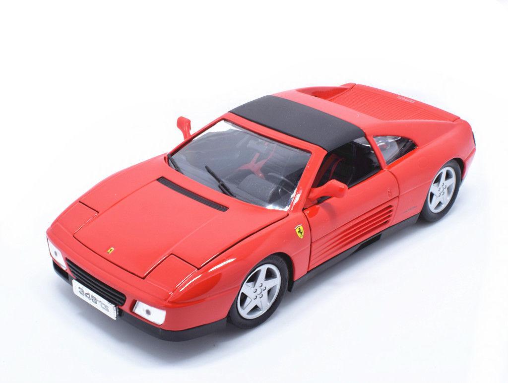Bburago 1 18 Ferrari 348 348ts rosso Diecast Racing auto modello nuovo IN scatola