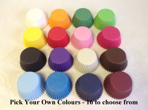CUP CAKE cases High Quality PAPER MUFFIN PICK YOUR OWN mix of COLOURS