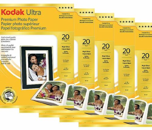 "NEW Kodak High Gloss Ultra Premium Photo Paper 5x7 size 5"" x 7"" - 100 sheets"