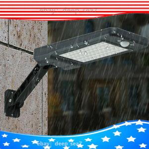 US 60LED Solar Power PIR Motion Sensor Wall Street Light Path Garden Lamp Home