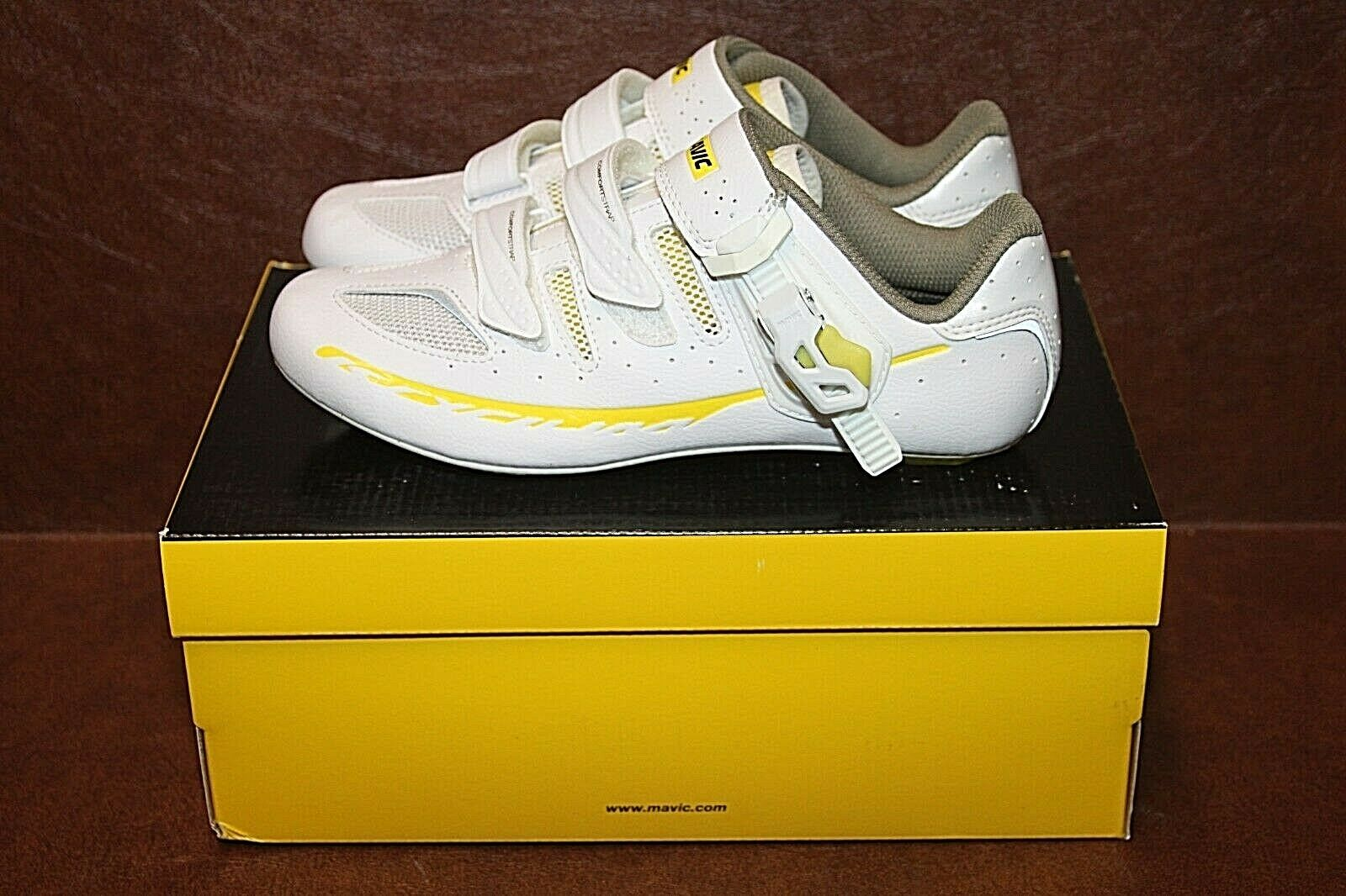 Mavic Ksyrium Elite 2 Womens Road shoes White Yellow 36 2 3 EU US 5.5 NIB 377953