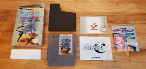 Super-C-Contra-Nintendo-NES-lot-Box-Manual-Inserts-Complete-CIB-Konami-TESTED