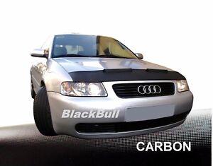 CARBON Optik Audi A3 Bj ab 12 BRA Steinschlagschutz Haubenbra