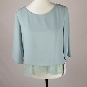 Zara-Basic-Top-Size-M-Mint-Green-BNWT-Flawed