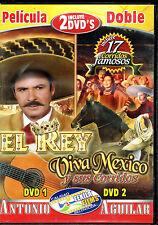 Pelicula Doble: El Rey / Viva Mexico y Sus Corridos, BRAND NEW FACTORY SEALED 2