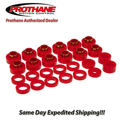 Prothane 1-104 Red Body Mount Bushing Kit for CJ8-26 Piece