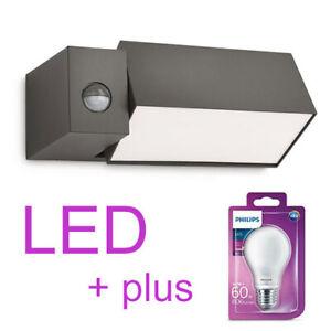 NEU-Philips-LED-Wandleuchte-Aussenleuchte-Aussenlampe-modern-Bewegungsmelder