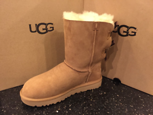 5eb1d0129 Image is loading UGG-AUSTRALIA-WOMENS-Bailey-Bow-II-boots-chestnut-