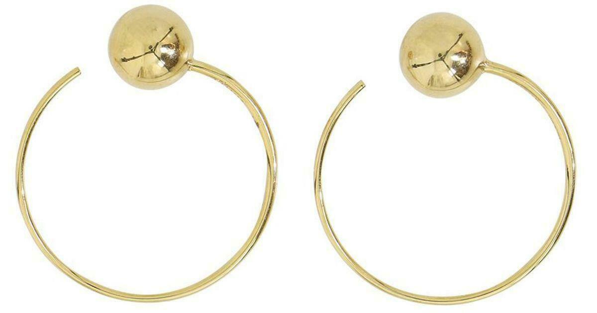 Celine Phoebe Philo Céline DOT SMALL HOOPS EARRINGS IN BRASS WITH gold FINISH