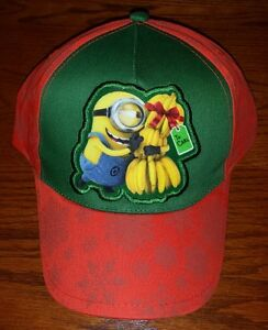 199e0b439 Details about NEW Lot of 3 Despicable Me Baseball Caps Hat Minion Banana  Christmas Youth Carl