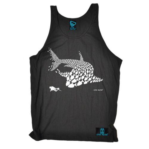 Fish Shark Diver diver mask funny Birthday Gift tshirt BELLE VEST SINGLET TOP