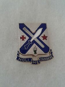 Authentic-WWII-US-Army-2nd-Infantry-Regiment-Unit-DI-DUI-Crest-Insignia
