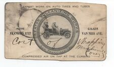 1910 Trade Card for Keaton Tires San Francisco showing People in Vintage Auto