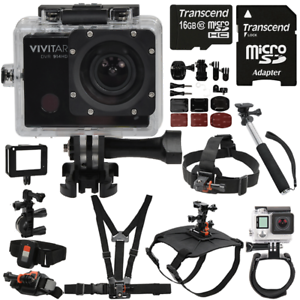 Vivitar DVR914HD Wi-Fi Waterproof Action Video Camera Camcorder w/ Accessory Kit