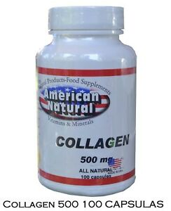 731d4bb21 Image is loading COLLAGEN-500mg-100-capsules-American-Natural-colageno-en-