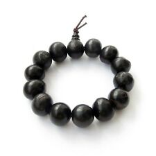 Black Bodhi Seed Tibet Buddhist Prayer Beads Mala Bracelet 15mm 13mm