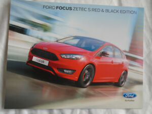 Details About Ford Focus Zetec S Red Black Edition Brochure Aug 2015
